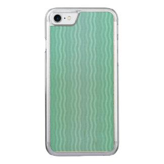 Capa iPhone 8/ 7 Carved Água-marinha ondulada de turquesa das listras