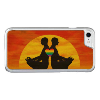 Capa iPhone 8/ 7 Carved Amor alegre da ioga - 3D rendem