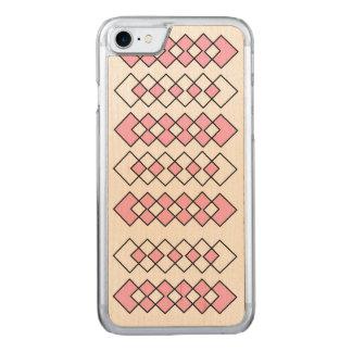 Capa iPhone 8/ 7 Carved Arte de madeira do exemplo do bordo magro do