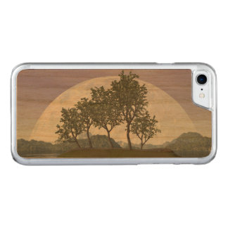 Capa iPhone 8/ 7 Carved Árvore com folhas lisa dos bonsais do olmo - 3D