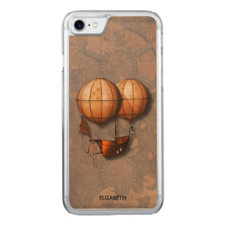 Capa iPhone 8/ 7 Carved Balão de ar retro de Steampunk do vintage com