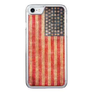 Capa iPhone 8/ 7 Carved Bandeira americana envelhecida