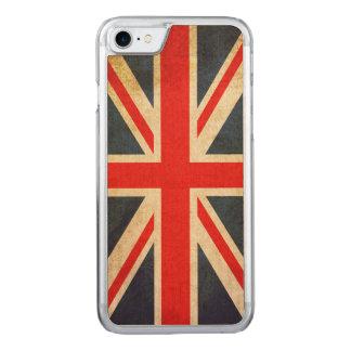 Capa iPhone 8/ 7 Carved BANDEIRA de Union Jack Reino Unido do Grunge do