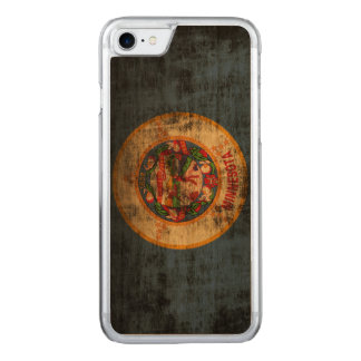 Capa iPhone 8/ 7 Carved Bandeira do estado do Grunge do vintage de