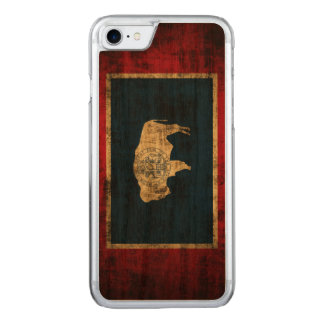 Capa iPhone 8/ 7 Carved Bandeira do estado do Grunge do vintage de Wyoming