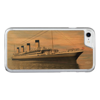 Capa iPhone 8/ 7 Carved boat_titanic_close_water_waves_sunset_pink_standar