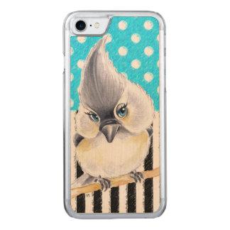 Capa iPhone 8/ 7 Carved Bolinhas do azul do Titmouse