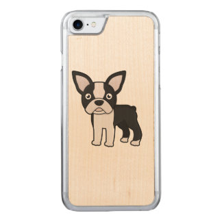Capa iPhone 8/ 7 Carved Boston bonito Terrier