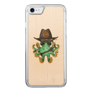 Capa iPhone 8/ 7 Carved Caçador verde do zombi do polvo do bebê