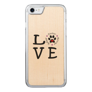 Capa iPhone 8/ 7 Carved Caixa animal da madeira do bordo do iPhone 7 do