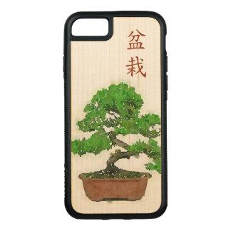 Capa iPhone 8/ 7 Carved Caixa de madeira do pára-choque do iPhone 7 de