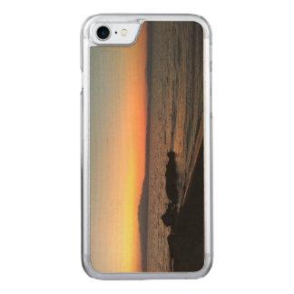 Capa iPhone 8/ 7 Carved Caixa magro da madeira do bordo do iPhone 7 de