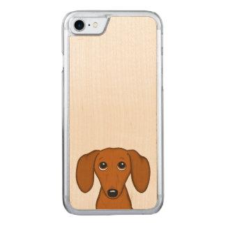 Capa iPhone 8/ 7 Carved Cão bonito do Wiener dos desenhos animados do