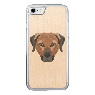 Capa iPhone 8/ 7 Carved Cão Brown Labrador da ilustração