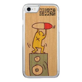 Capa iPhone 8/ 7 Carved Caso de madeira de IPhone 7 do partido do