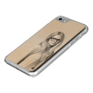 Capa iPhone 8/ 7 Carved Caso do iPhone 7 de Cara Delevingne