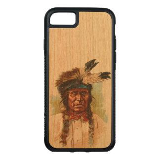 Capa iPhone 8/ 7 Carved Chefe de Sioux do Blackfoot: Trovão vermelho