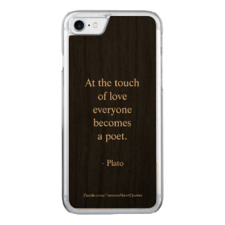 Capa iPhone 8/ 7 Carved Citações de Plato; O toque do amor