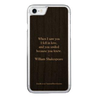 Capa iPhone 8/ 7 Carved Citações de Shakespeare - eu caí no amor