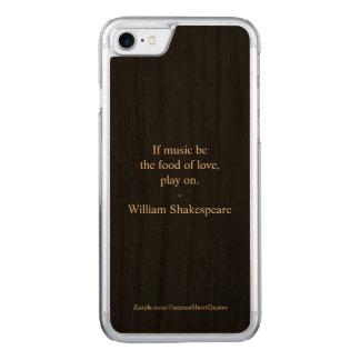 Capa iPhone 8/ 7 Carved Citações de William Shakespeare - amor