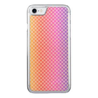 Capa iPhone 8/ 7 Carved Colorido brilhante Checkered da verificação do