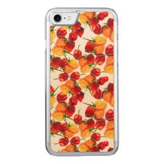 Capa iPhone 8/ 7 Carved Comida quente alaranjada das pimentas vermelhas