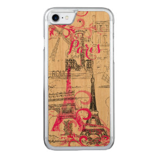 Capa iPhone 8/ 7 Carved Cor do fundo de PixDezines Paris sketched/DIY