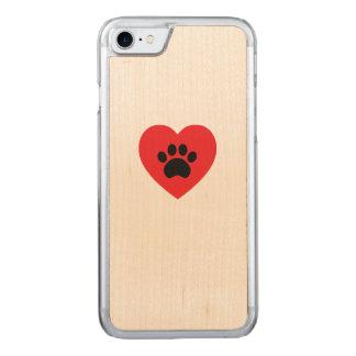 Capa iPhone 8/ 7 Carved Coração do impressão da pata