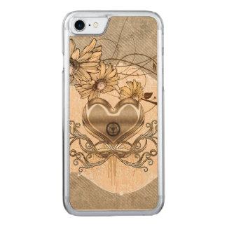 Capa iPhone 8/ 7 Carved Coração maravilhoso com flores