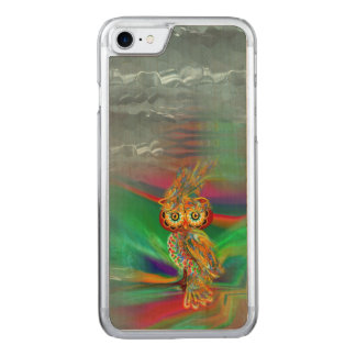 Capa iPhone 8/ 7 Carved Coruja tropical da rainha da forma