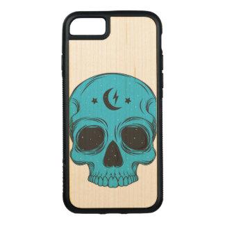 Capa iPhone 8/ 7 Carved Crânio artístico (azul)