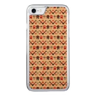 Capa iPhone 8/ 7 Carved Crânio cómico com teste padrão colorido cruzado
