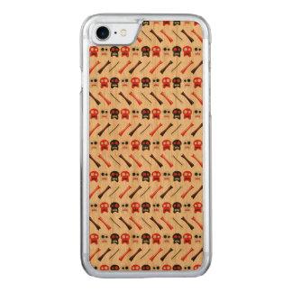 Capa iPhone 8/ 7 Carved Crânio cómico com teste padrão colorido dos ossos