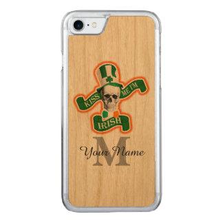 Capa iPhone 8/ 7 Carved Crânio irlandês engraçado monogrammed