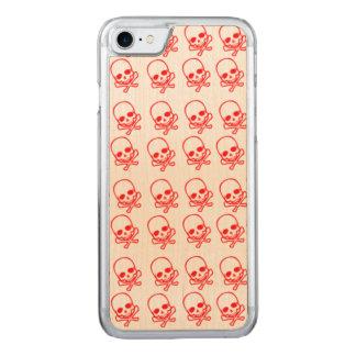 Capa iPhone 8/ 7 Carved Crânios vermelhos