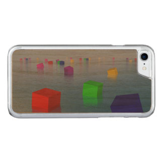 Capa iPhone 8/ 7 Carved Cubos coloridos que flutuam - 3D rendem