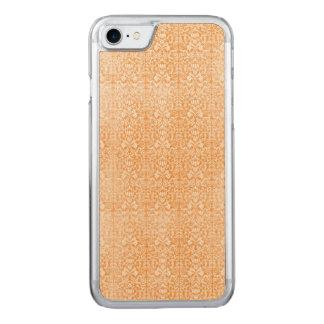 Capa iPhone 8/ 7 Carved Damasco alaranjado pálido teste padrão envelhecido