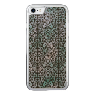 Capa iPhone 8/ 7 Carved Damasco azul de Shibori do Batik do céu nocturno