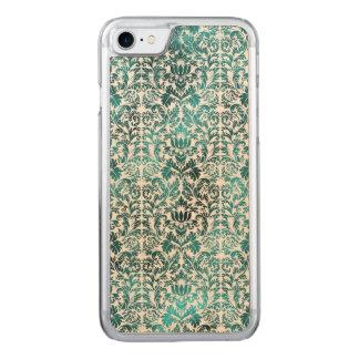 Capa iPhone 8/ 7 Carved Damasco azul de Shibori do Batik do paraíso da