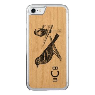 Capa iPhone 8/ 7 Carved Design da arte do vintage: Dois teste padrão dos