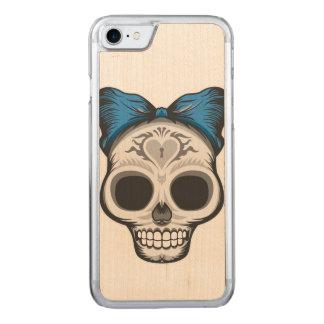 Capa iPhone 8/ 7 Carved Design de Skulll do açúcar