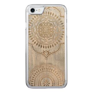 Capa iPhone 8/ 7 Carved Design do ouro da mandala