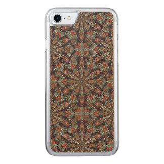 Capa iPhone 8/ 7 Carved Design floral do teste padrão do abstrato da