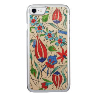 Capa iPhone 8/ 7 Carved Design floral turco