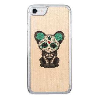Capa iPhone 8/ 7 Carved Dia azul da pantera preta inoperante Cub