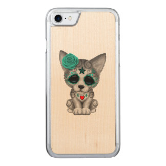 Capa iPhone 8/ 7 Carved Dia azul do lobo Cub inoperante