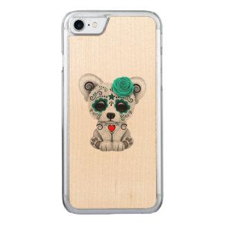 Capa iPhone 8/ 7 Carved Dia azul do urso polar do bebê inoperante