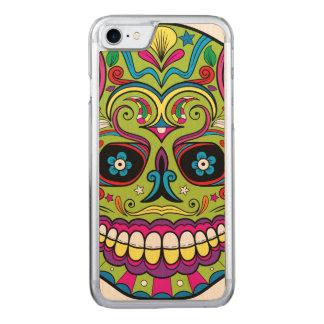 Capa iPhone 8/ 7 Carved Dia do crânio verde inoperante