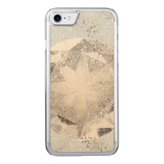 Capa iPhone 8/ 7 Carved Diamante branco na faísca azul Pastel clara