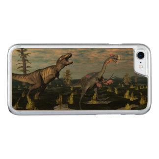 Capa iPhone 8/ 7 Carved Dinossauro de ataque do gigantoraptor do rex do